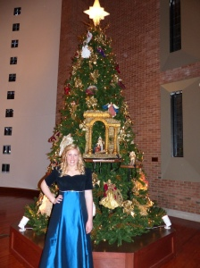 Anna at the holiday performance of Bella Voce, Angels Sing.