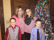 Victoria and her new Colorado host family celebrate Christmas together.