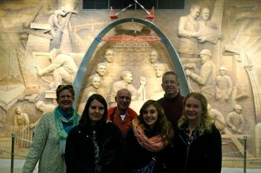 Carol and Joe enjoy their time with Claudia from Italy and last year's student, Tatjana with her parents from Germany.