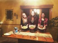 Zoe from Belgium, Wilma from Finland, and Jana from Germany host an international potluck together in Wisconsin.