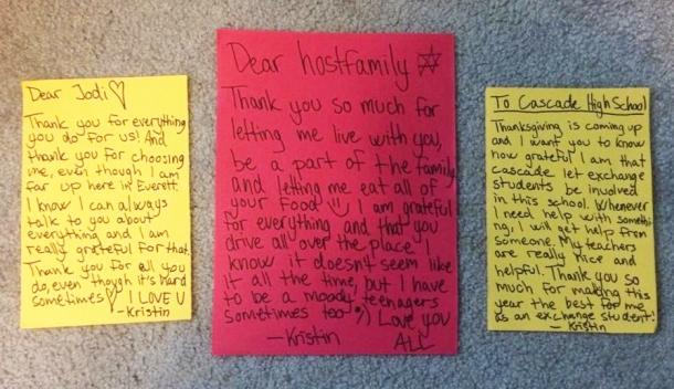 Kristin's original notes