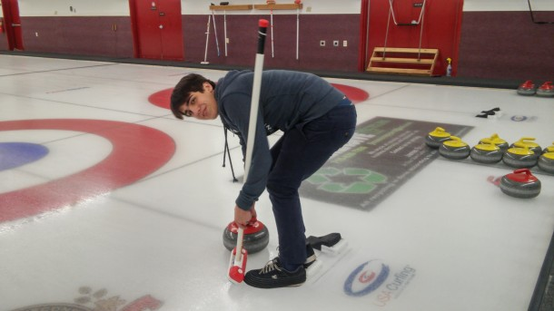 Clement from France at Diana's curling outing