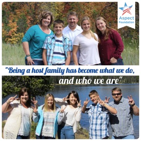 """Being a host family has become what we do and who we are."""