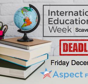 Reminder: IEW Scavenger Hunt deadline next Friday December15!