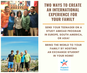 An International Experience for Your Family!