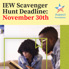Reminder: IEW Scavenger Hunt deadline this Friday, November 30th!