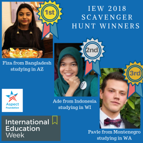 IEW 2018 SCAVENGER HUNT WINNERS!